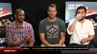 LET'S BE COPS INTERVIEW WITH DAMON WAYANS JR., ROB RIGGLE AND JAKE JOHNSON