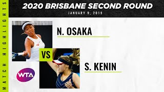 Naomi Osaka vs. Sofia Kenin | 2020 Brisbane Second Round | WTA Highlights