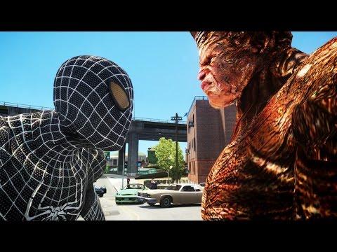 black spiderman vs rhino - photo #36