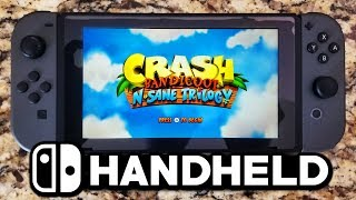 Crash Bandicoot N. Sane Trilogy Switch Handheld Gameplay & Graphics! How Well Does It Run?