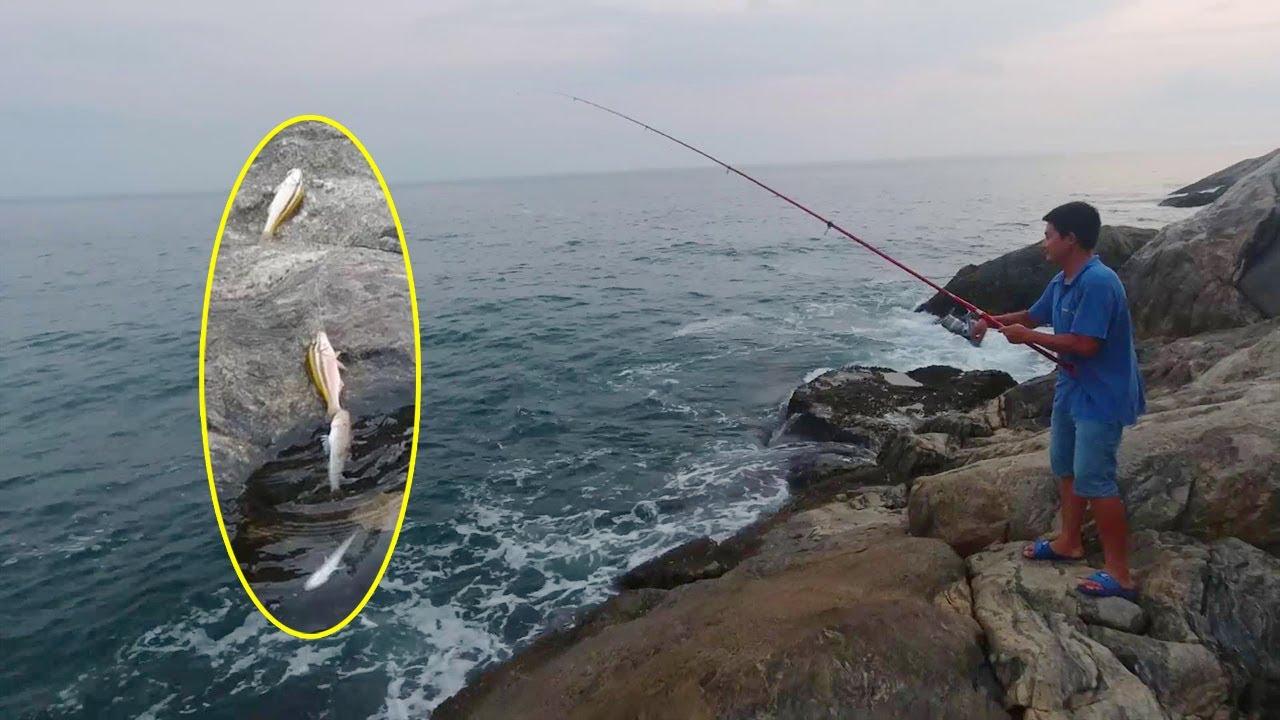老旺釣魚遇奇事,一竿竟釣上一串魚,夠回家熬一鍋粥了【老旺與海】