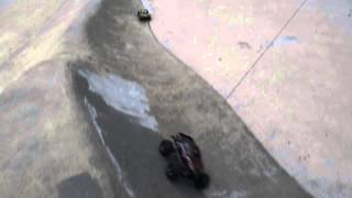 Traxxas Stampede & Losi SCT Play at Skate Park   Green Valley Ranch