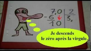 Apprendre à faire une division avec un chiffre après la virgule en CE2 CM1