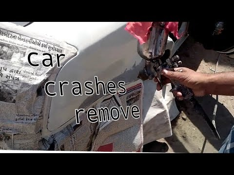 How to Remove Paint Scuffs On Your Car (Paint Transfer) {gun spray}