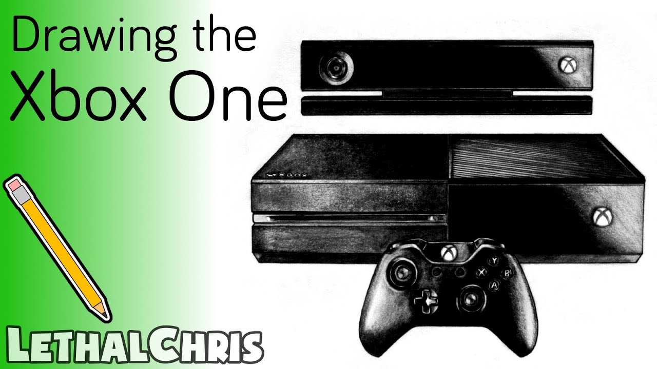 Scribble Drawing Xbox One : Xbox one drawing fan art time lapse youtube