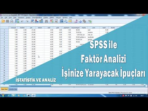 SPSS Faktör Analizi Pratik Bilgiler, Açımlayıcı Faktör Analizi (1. Bölüm)