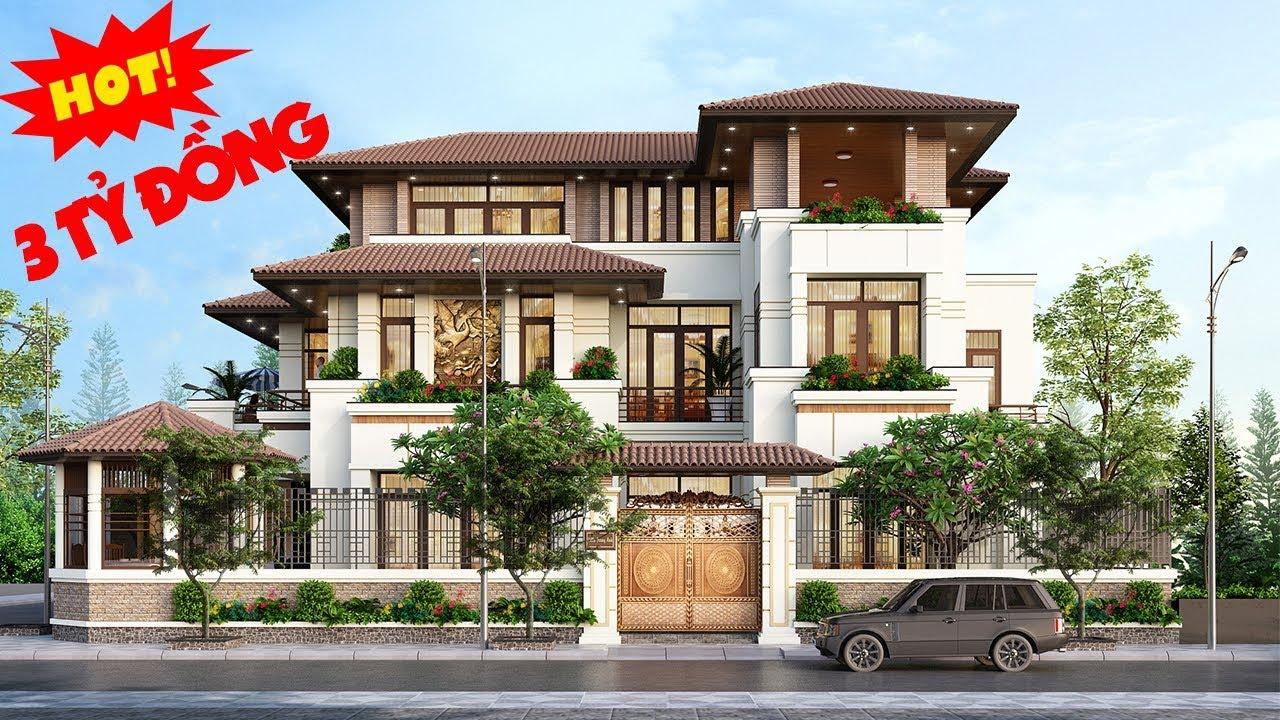 Biệt thự hiện đại 3 tầng có hồ bơi cây xanh quanh nhà ở Quảng Ninh