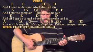 No Rain (Blind Melon) Strum Guitar Cover Lesson with Chords/Lyrics