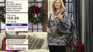 Artizan The Double Zip Side Tote & Fashion Scarf Thumbnail
