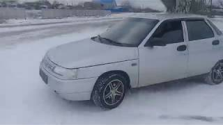 Дрифт По Снегу  На Переднем Приводе Ваз 2110