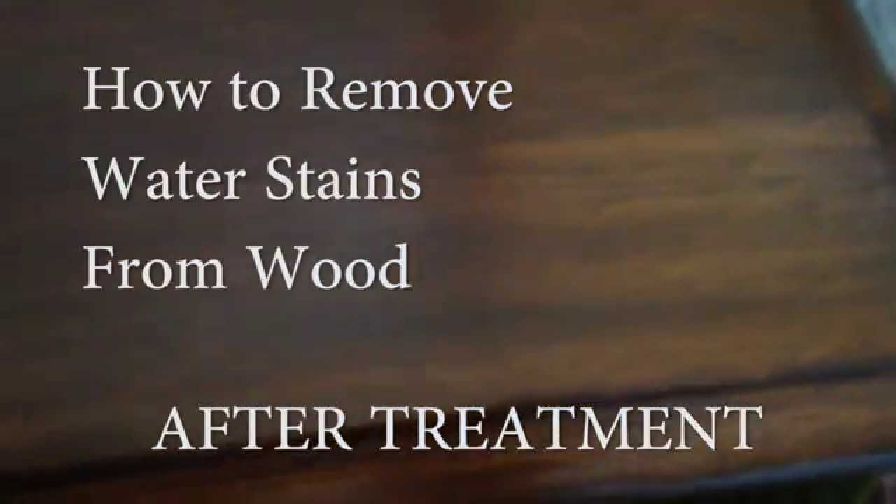 How To Remove Water Stains From Wood Furniture