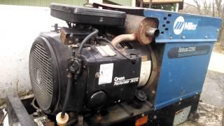 Miller Bobcat 225g Welder 8000kw Generator Onan 16 Hp Youtube