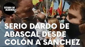 Imagen del video: Este ha sido el serio 'dardo' de Abascal, a Pedro Sánchez desde Colón