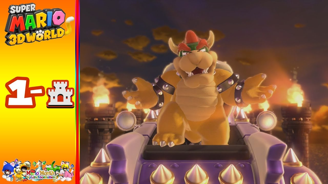 super mario 3d world world 1castle bowsers highway