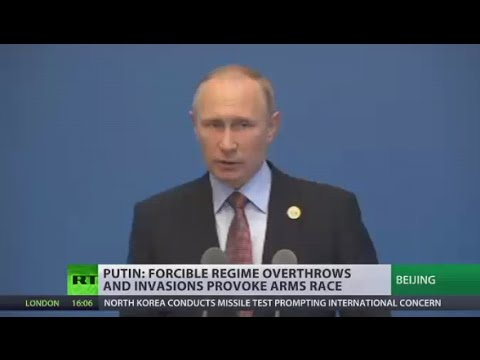Putin: We need to stop intimidating North Korea, find peaceful solution