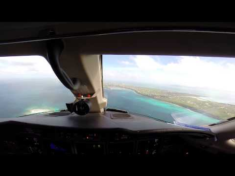 Cessna Citation X Landing Clayton J. Lloyd International Airport. Anguilla TQPF