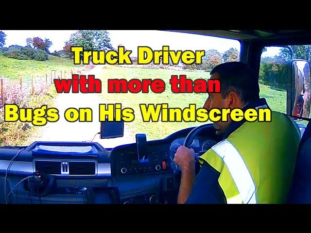 Truck driver with more than bugs on his Windscreen