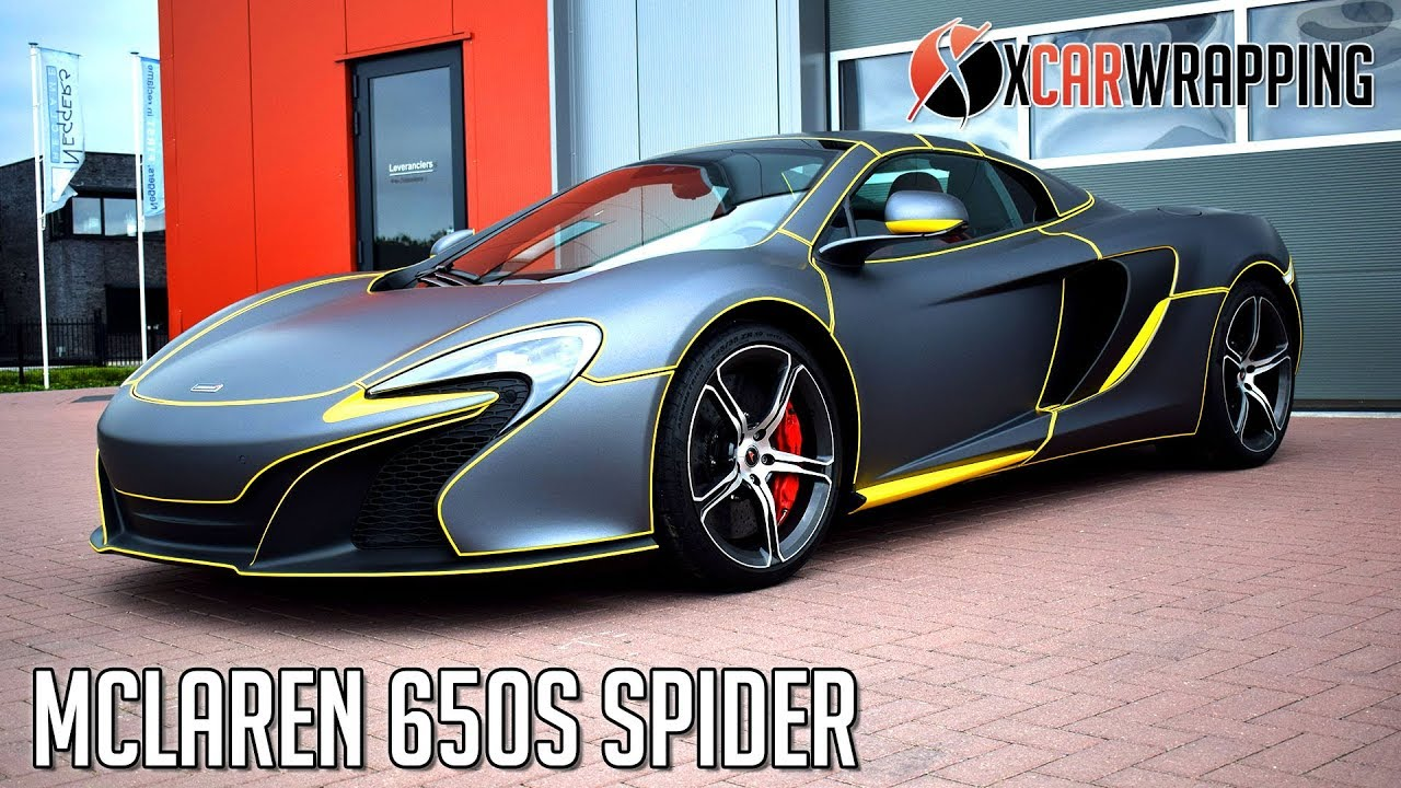 mclaren 650s spider tron style wrap by x carwrapping