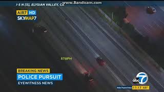 Burbank Police Chase 09/11/2019 | 20+ Officers vs Suspect