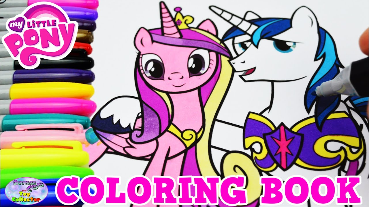 My little pony coloring pages youtube - My Little Pony Coloring Book Mlp Cadance Shining Armor Episode Surprise Egg And Toy Collector Setc