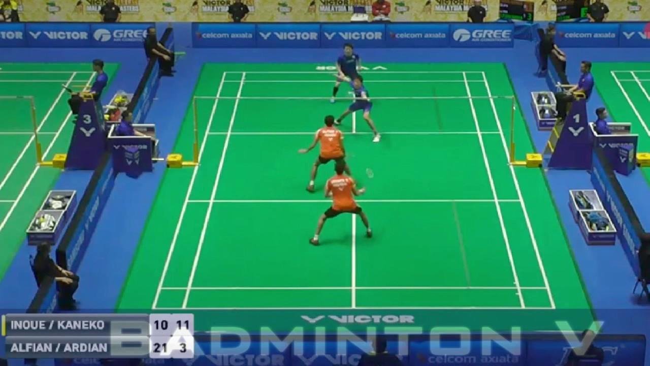 Badminton 2017 MalaysiaMaster Takuto INOUE Yuki KANEKO vs Fajar
