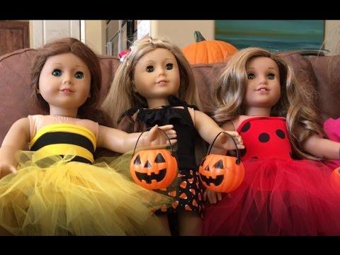 DIY Halloween Costume for American Girl Dolls - 2016 - YouTube