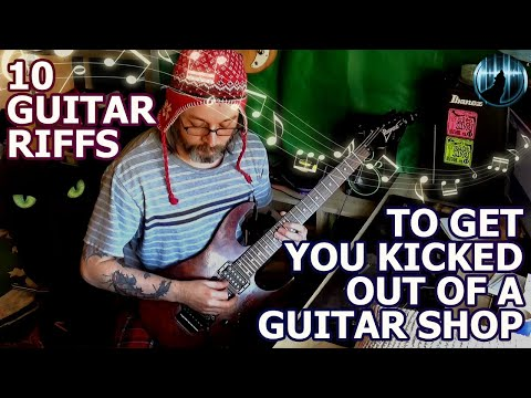 10 Guitar Riffs To Get You Kicked Out Of A Guitar Shop | With Guitar Tabs