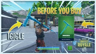 FORTNITE - ICICLE PICKAXE BEFORE YOU BUY (Piccone Ghiacciolo) - Liuk1522