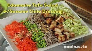 How To Make Edamame Tofu Salad With Sesame Chile Dressing