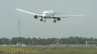 ANONYMOUS BOEING 767 gets an UPLIFT shortly before LANDING (4K)
