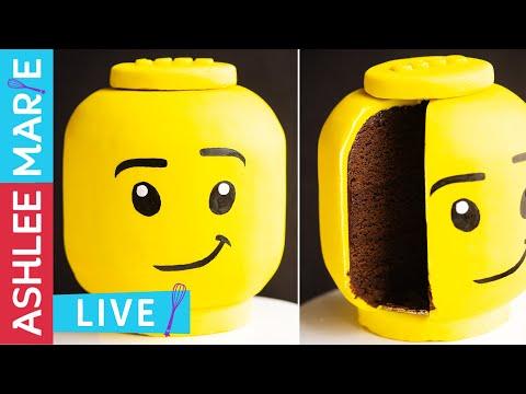 LEGO Head Cake - Cake Decorating Tutorial - LIVE