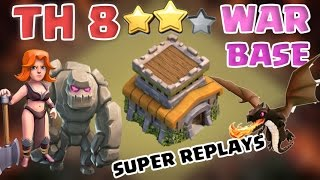 New TH8 War Base W/BOMB TOWER 2017   Anti 3 Star + Replays Proof   Clash of Clans