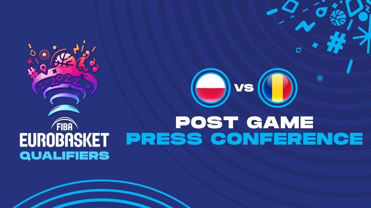 Poland v Romania - Press Conference - FIBA EuroBasket Qualifiers 2022
