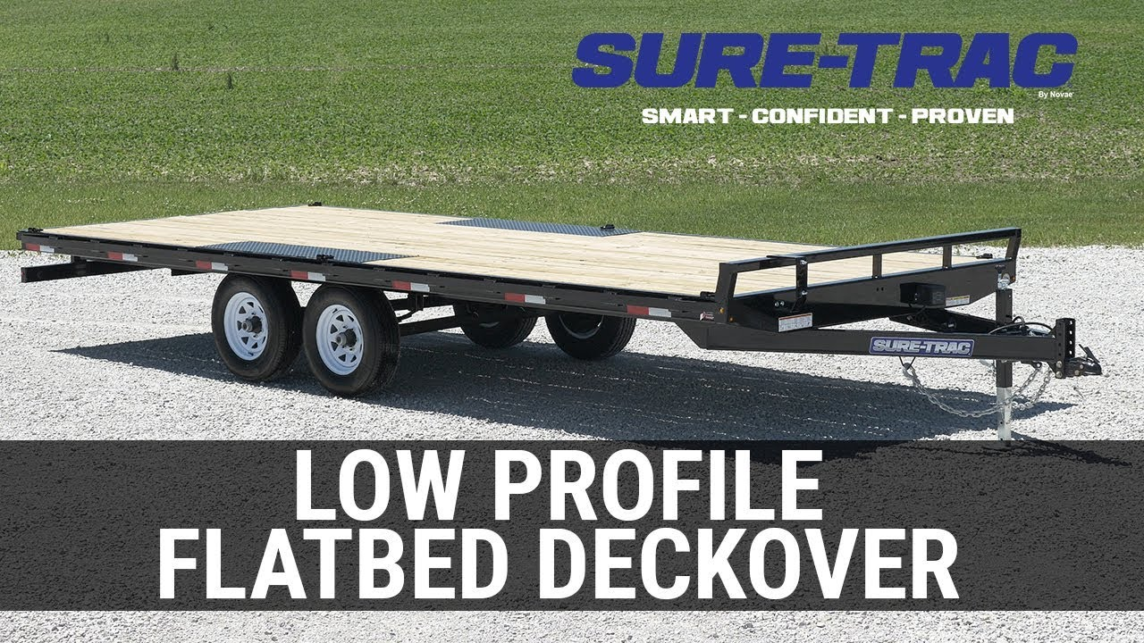 small resolution of 2018 sure trac 8 5x24 deckover equipment trailer kelleys custom trailers in traverse city mi utility flatbed and enclosed cargo trailers in mi your