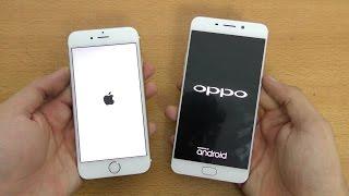 Oppo F1 Plus 4GB RAM vs iPhone 6S - Speed Test! (4K)