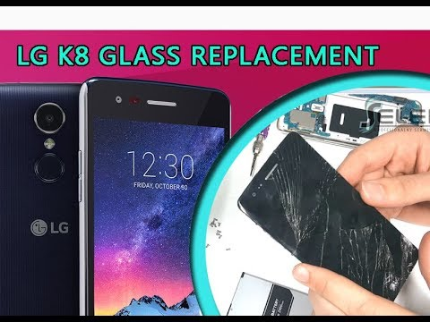 LG K8 2017 (M200n) Glass Touch Only Replacement Tutorial / Ersatz von Glasscheibe