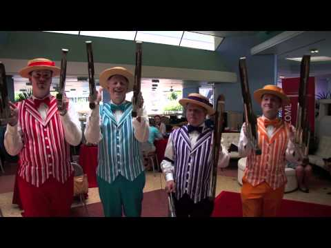 The Dapper Dans perform Main Street Electrical Parade song at Magic Kingdom