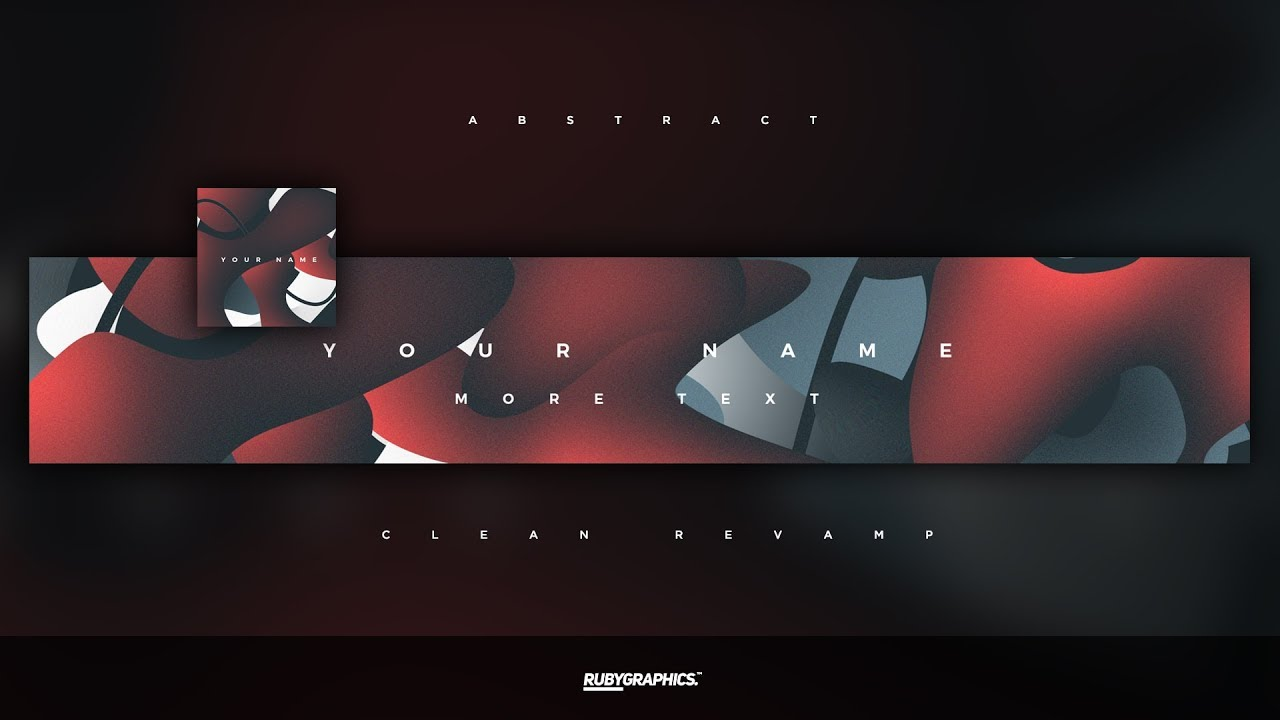 FREE GFX Free Photoshop Banner Template Clean 2D Abstract Design 2019 YouTube
