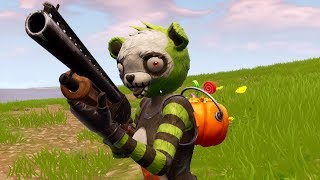 "ZOMBIE PANDA'S NEW SKIN! ""SCARE TEAM LEADER""! (Fortnite Battle Royale)"