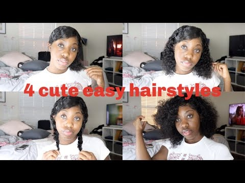 4-easy-quick-hairstyles-with-a-short-curly-wig-|-elva-hair-|