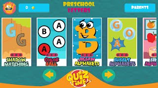 """Kids Preschool Learn Letters """"Educational  Apps For Toddlers & Pre-schoolers Android Apps Game Video"""