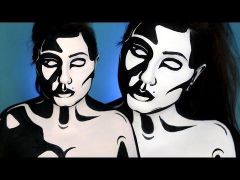 Black & White Graphic Pop Art Makeup Tutorial