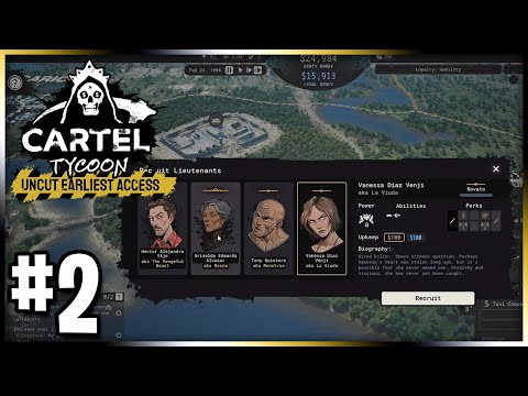 Recruiting our First Lieutenant!   Cartel Tycoon: Let's Play   Ep 2  