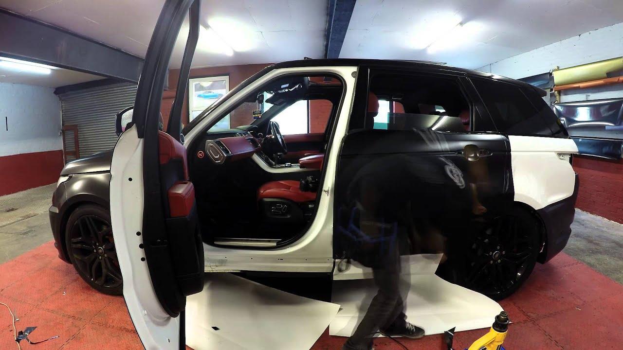 Range Rover Sport Satin Black Wrap