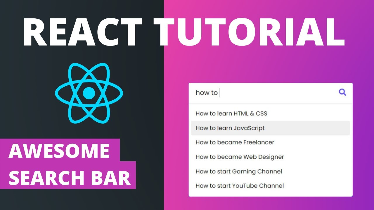 Search Bar in React Tutorial - Cool Search Filter Bar Tutorial