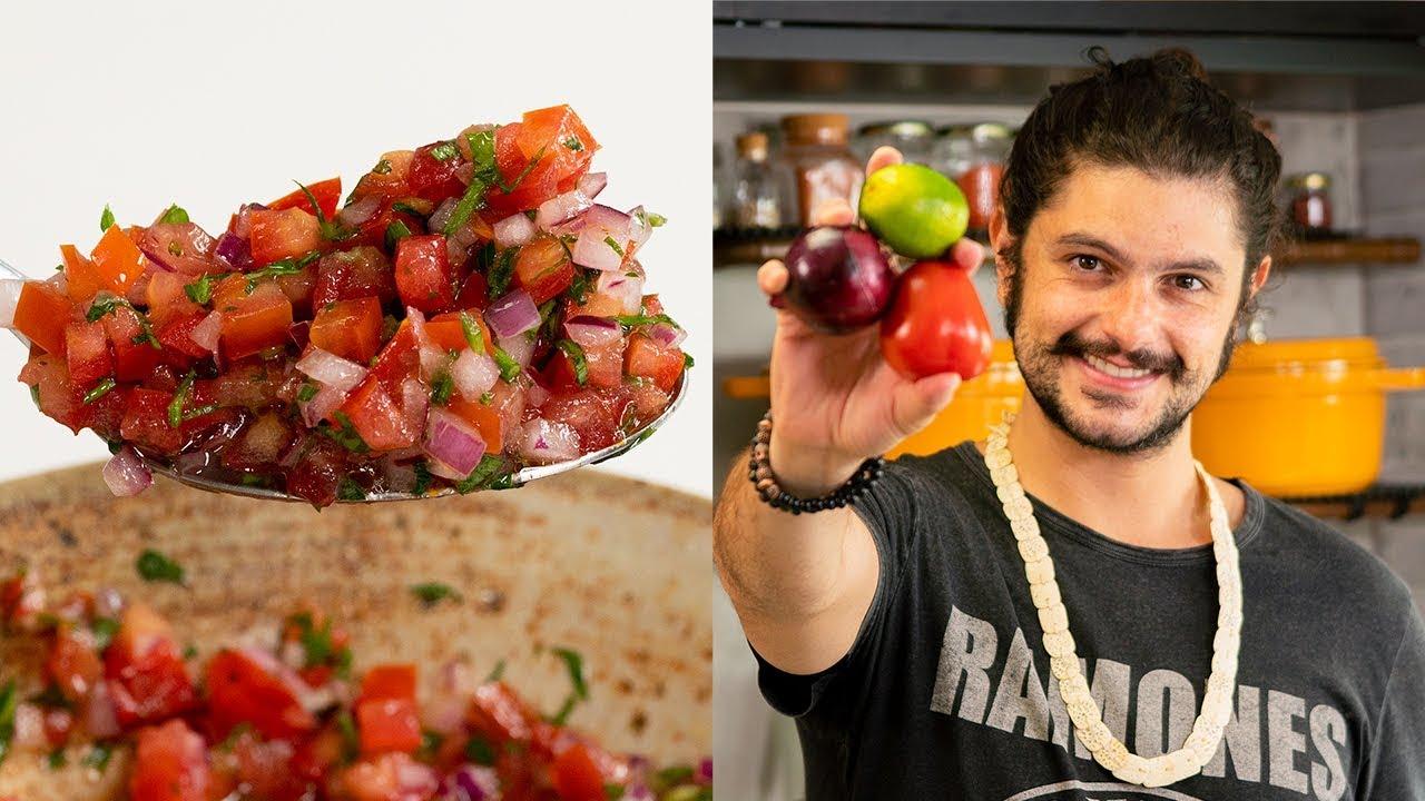 COMO FAZER MOLHO VINAGRETE | Cozinha Básica | Mohamad Hindi