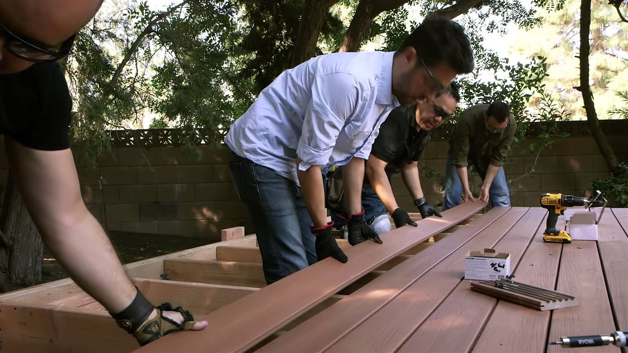 Updating Your Deck With New Composite Decking Boards Youtube