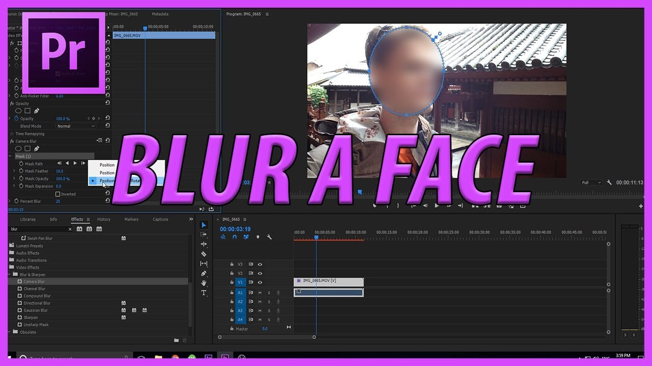 How to Blur a Face in Adobe Premiere Pro CC (2017)
