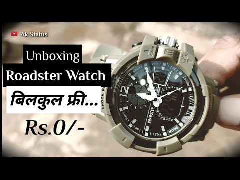 Unboxing Of Roadster Analog With Digital Watch From Myntra Shopping  _Vlog