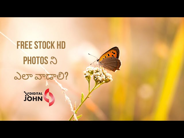How to use stock images in Telugu? || Digital Badi